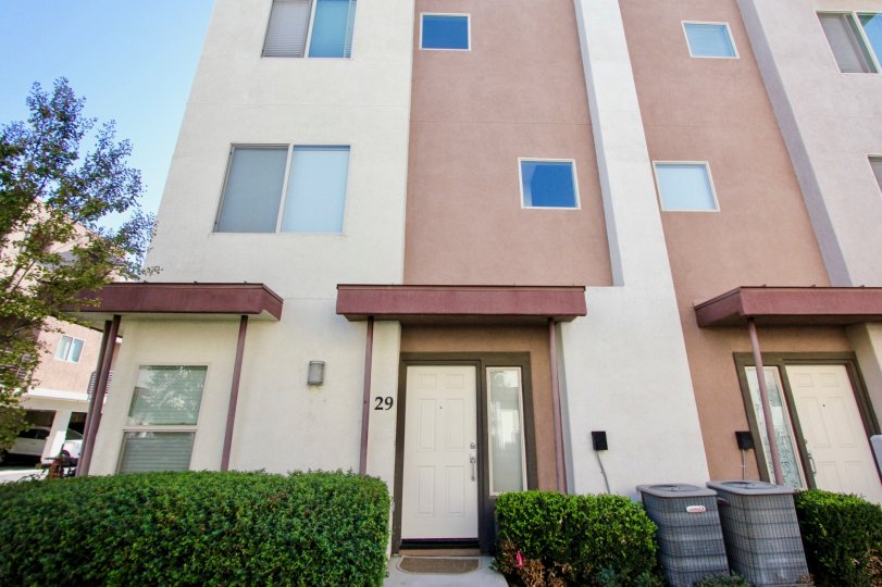 Three story housing units at Urbana At Citracado Village in Escondido California