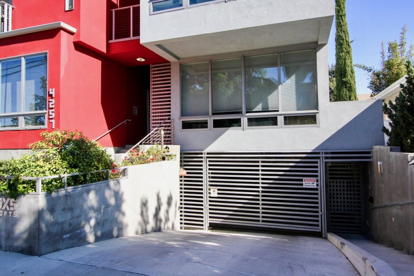 Secured parking at 5x5 Lofts in Hillcrest, California.