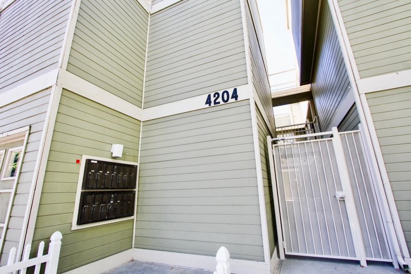 Postal boxes is attached with wall of 4204 apartment in Arbor Village