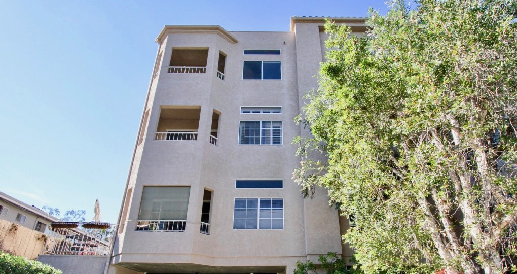 Beautiful Apartment with trees in front with many floors in Arbor Woods of Hillcrest