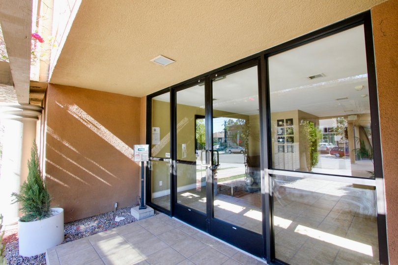Excellent entrance view gate with glass doors having sunshine in a villa of Hillcrest in Hillcrest Towers
