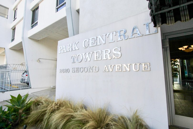 The Park Central Towers with large name board in the front side