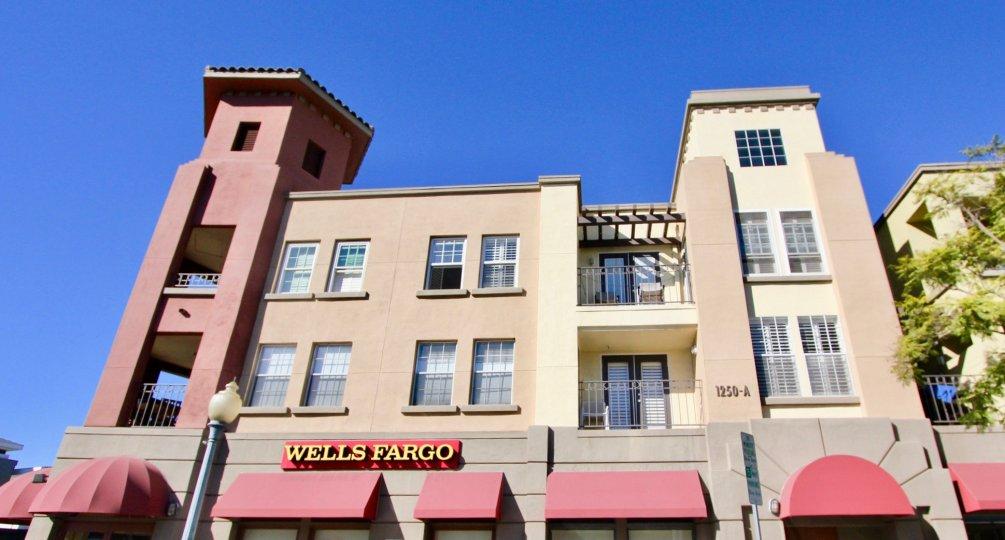 Uptown District Wells Fargo multi-story building Hillcrest California