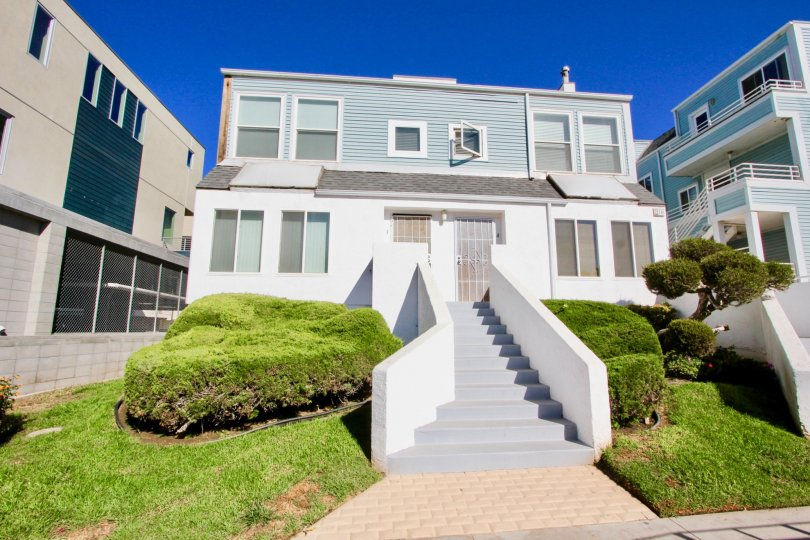Stairway leading to residence at Coastwalk Townhomes in Imperial Beach CA