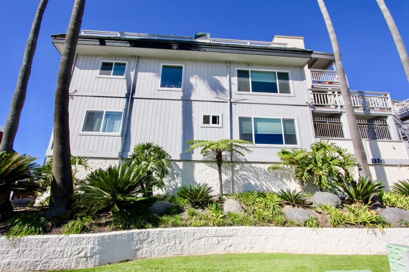 Three story white and gray residential units at Cortez in Imperial Beach CA