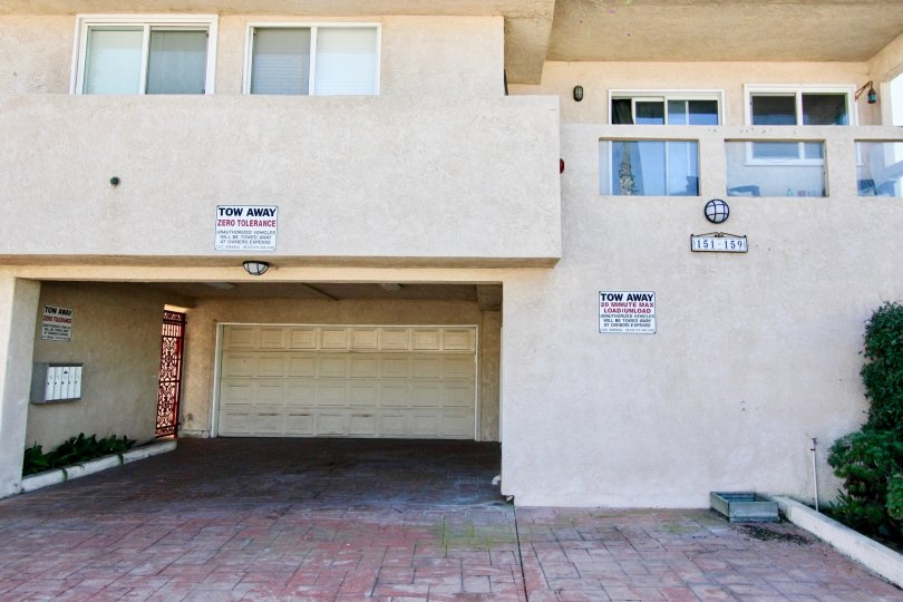 Two story apartment building with garage at Ebony Pearl in Imperial Beach California