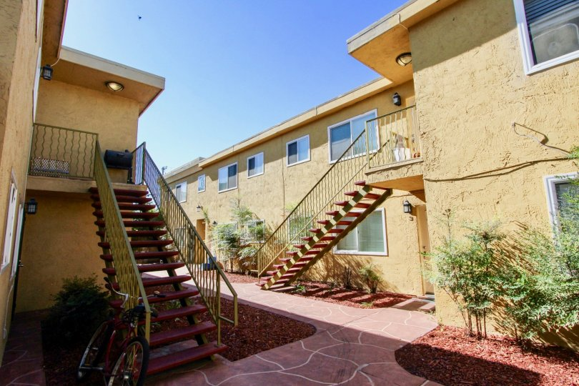 Two story residential buildings at Holly Avenue Condos in Imperial Beach California