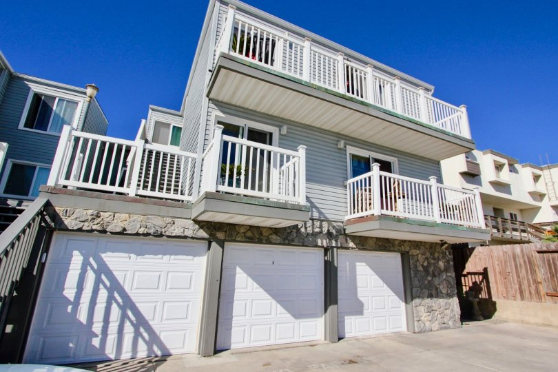 Three story housing with attached garages at Imperial Beach Villas in Imperial Beach California