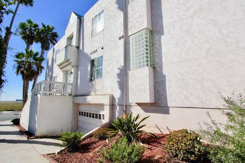 Three story residential building at Las Mareas in Imperial Beach California