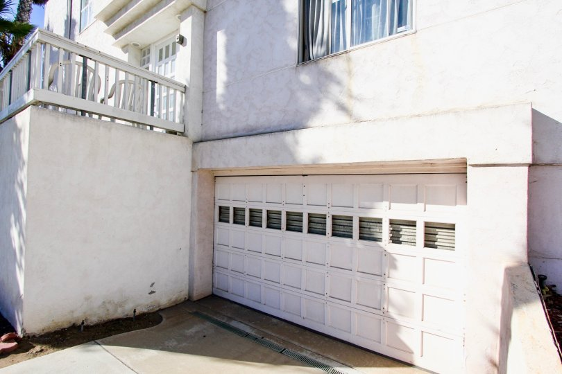 Garage door attached to residential units at Las Mareas in Imperial Beach CA