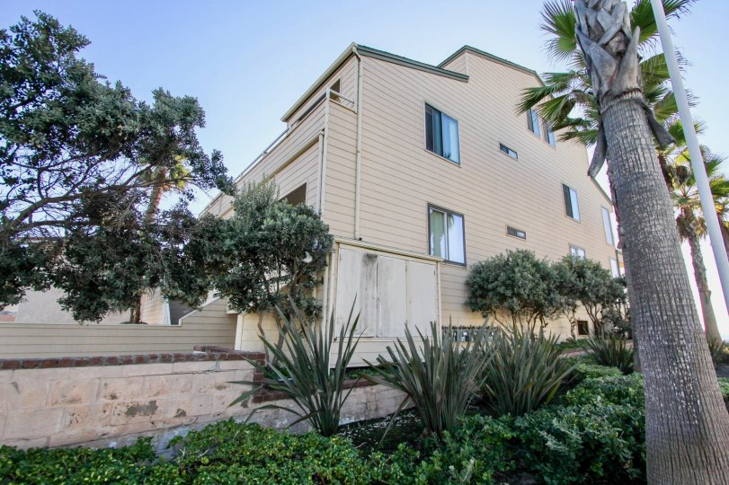 Four story residence with trees inside Ocean Palms in Imperial Beach California