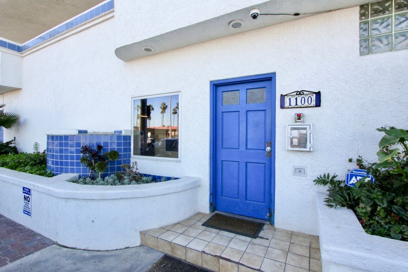 Entry to number 1100 in Ocean Point community in Imperial Beach, CA