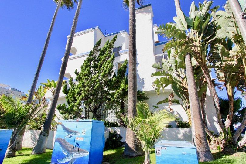 Tall condo building at Ocean Point in Imperial Beach California