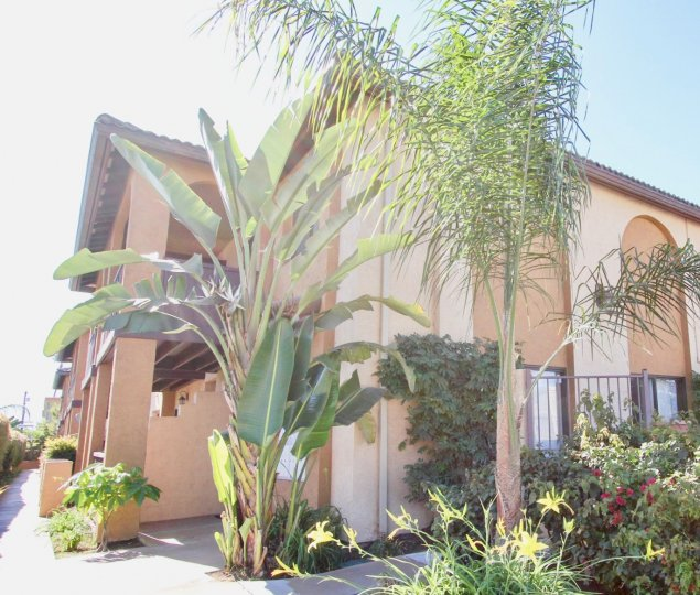 Two story town home buildings at On Holly in Imperial Beach California