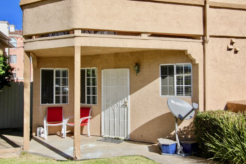 Residence with white screen door at Playa Florest in Imperial Beach California