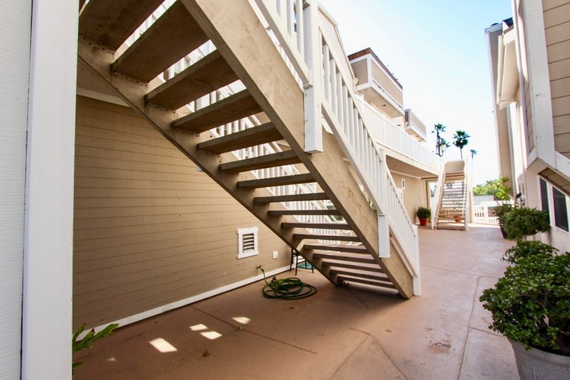 A shady staircase on a sunny day in Imperial Beach.