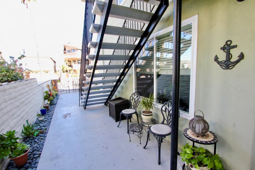 Stairway attached to residence inside Seabreeze Condominiums in Imperial Beach CA