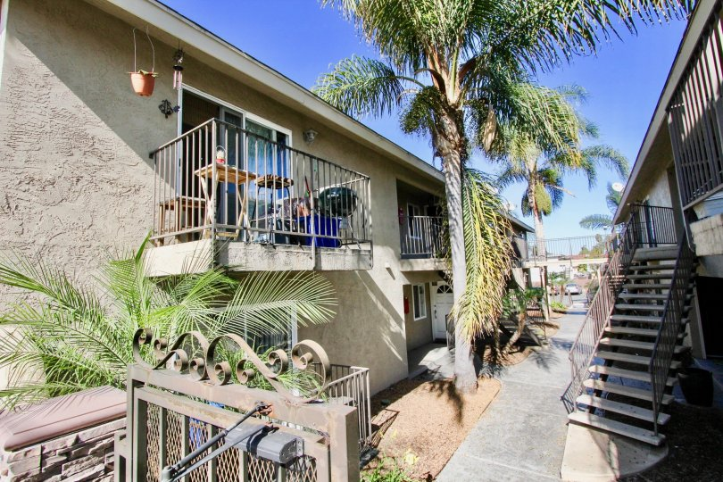 Housing with patios at Seabreeze Gardens in Imperial Beach California