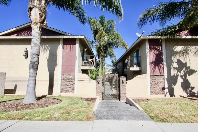 Sunny day at the beautiful Seabreeze Gradens community in Imperial Beach, California
