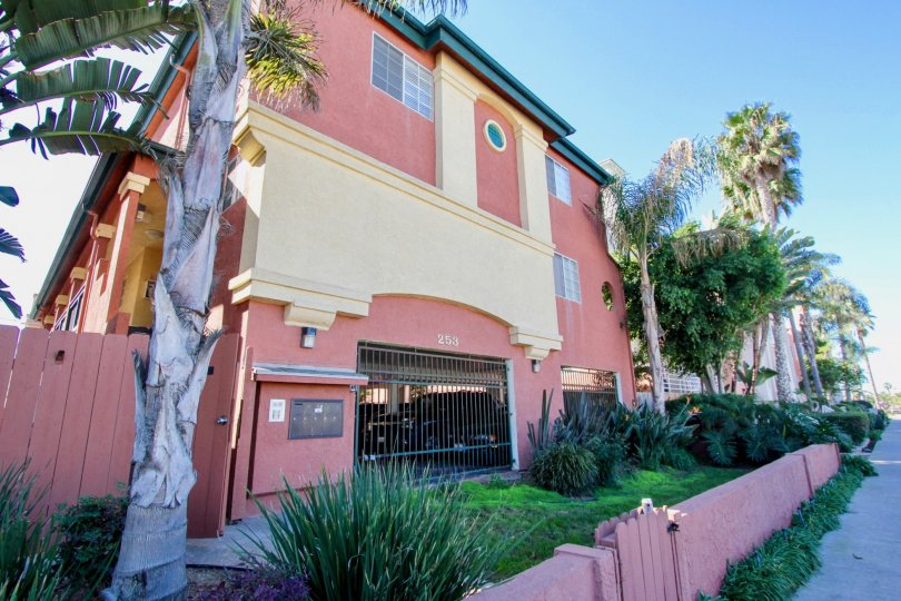 Three story residential units with garage at Seaside Villas in Imperial Beach California