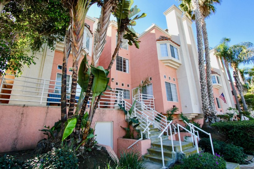 A pink color in Seaside Villas giving the apartment gorgeous look with bright sunshine.