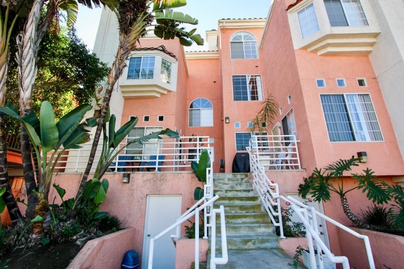 Three story residential units at Seaside Villas in Imperial Beach California