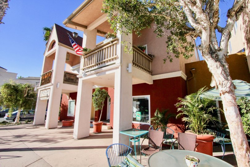 Two story residential units with patio at Shopkeeper at the Beach in Imperial Beach California