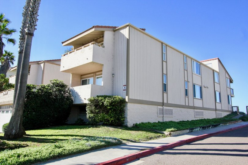 Two story condos near street at Southwesterly Shore in Imperial Beach California