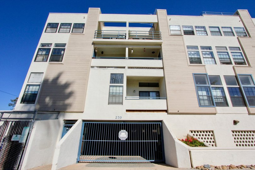 Building with three floors and parking located in the Summer Sea, Imperial Beach California