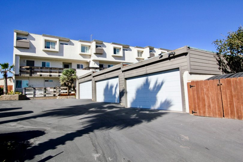 Three story housing with garages at Vista Del Coronado in Imperial Beach California