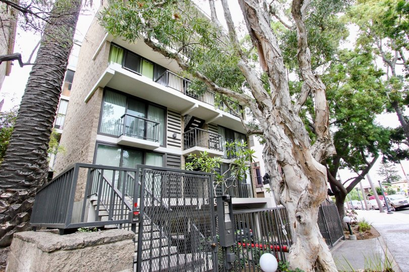 Apartment in 1250 cave street with tall trees and plants