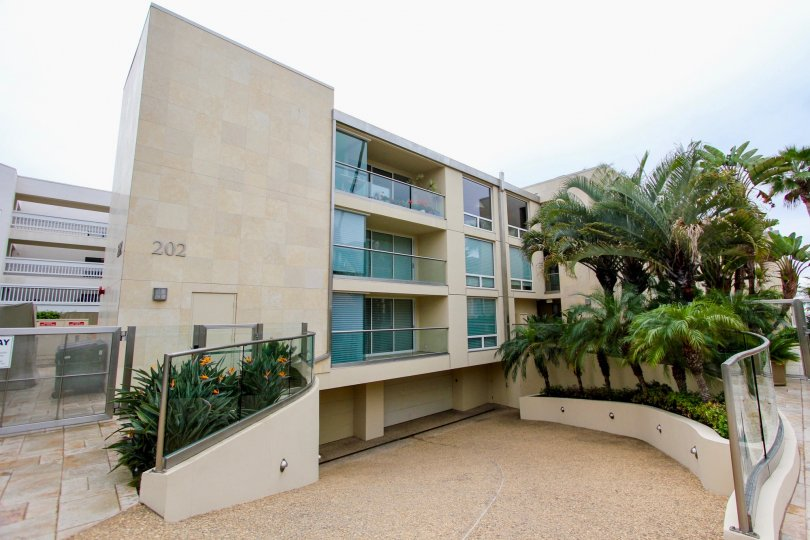 Four story condominiums with under ground parking at 202 Coast in La Jolla CA