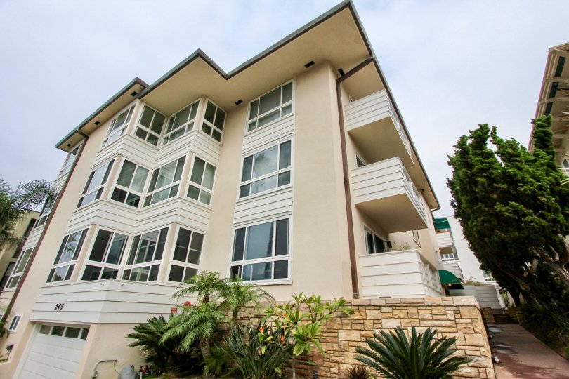 Four story brown homes inside 245 Coast community in La Jolla CA
