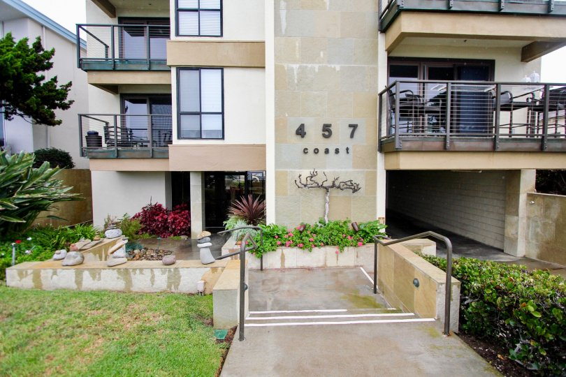 Apartments with plants & flowers inside 457 Coast in La Jolla CA
