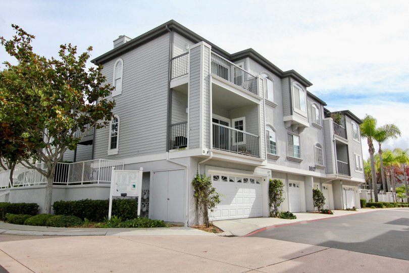 Large three story condominiums with attached garage inside Cape La Jolla Gardens in La Jolla CA