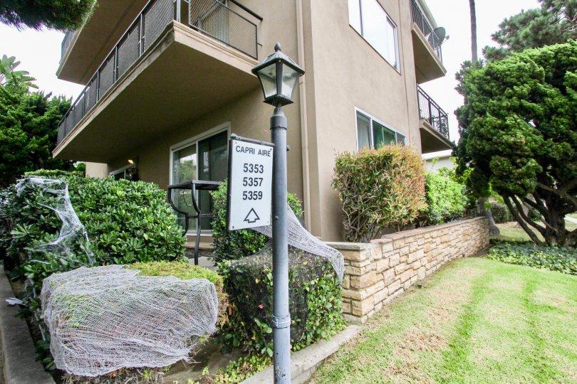 Capri Aire's three story residential units in La Jolla California