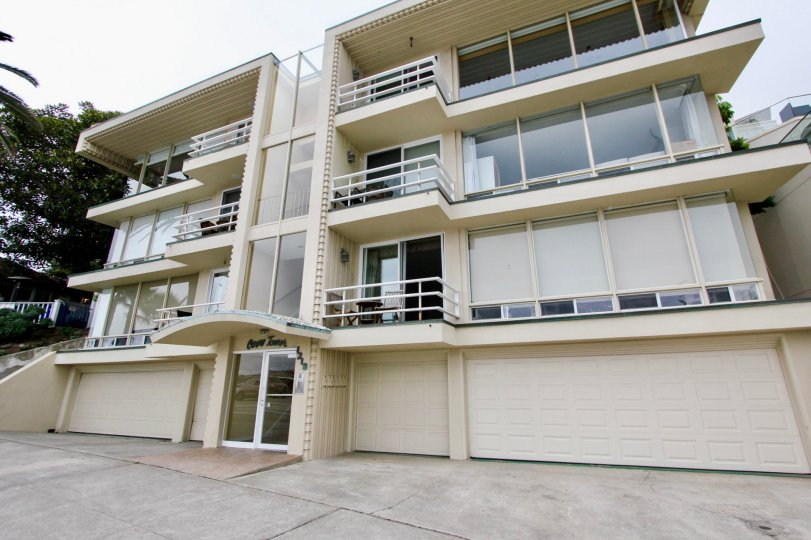 Four story modern town homes inside Cove towers in La Jolla CA