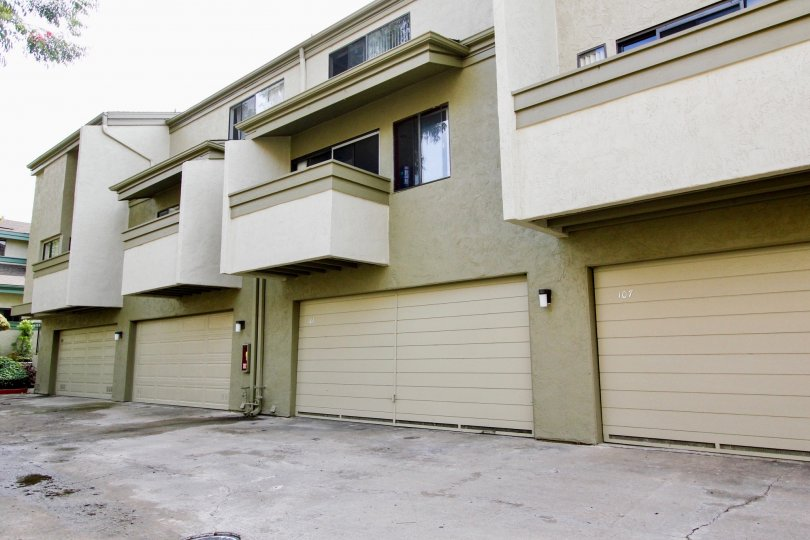 Three story units with attached garage inside Eastbluff in La Jolla California