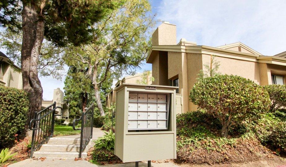 Check for mail outside the Eastbluff estates in La Jolla California