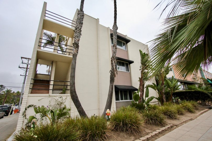 Three story condo units at Fontaine Bleu in La Jolla California