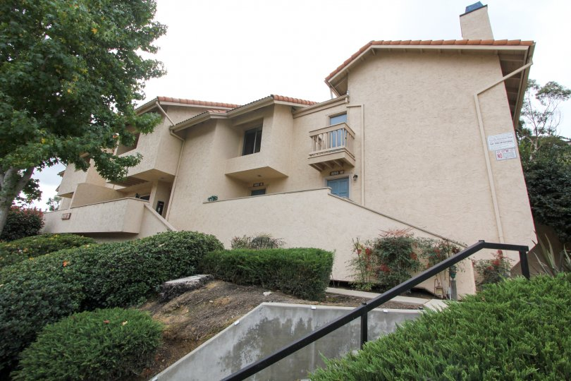 Zig-zag stairway leading to residence inside La Jolla Hideaway in La Jolla CA