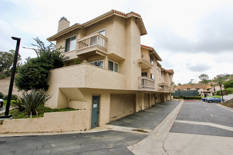 Three story condominiums with attached garages inside La Jolla Hideaway in La Jolla CA