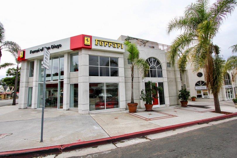 A Ferrari market place in la Jolla San Diego California