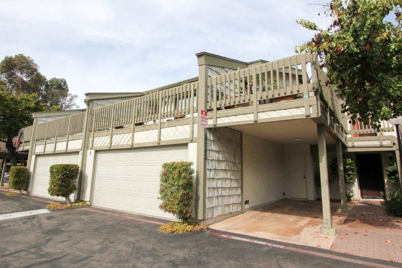 White and brown railing housing units at La Jolla Park Villas in La Jolla California
