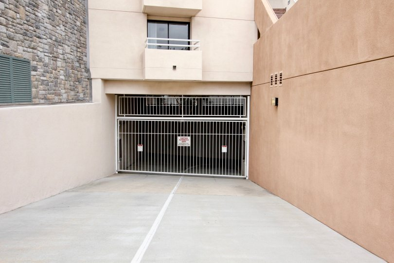 Gated parking inside residence within La Jolla Promenade in La Jolla CA