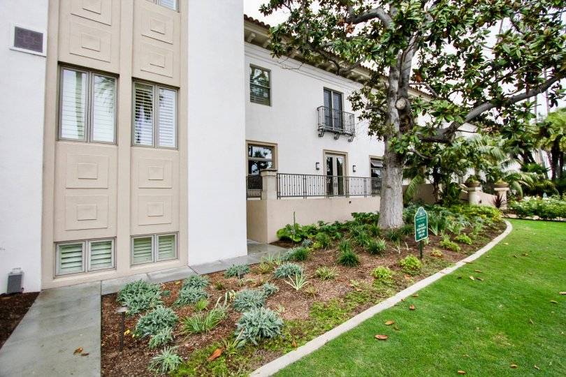 A few of the beautifully landscaped condos in the La Jolla Prospect Condo community in La Jolla, California