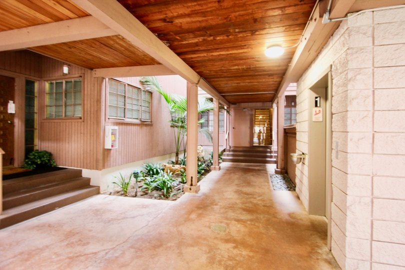 Beautiful multi-family apartment complex with interior access to living areas in La Jolla, California