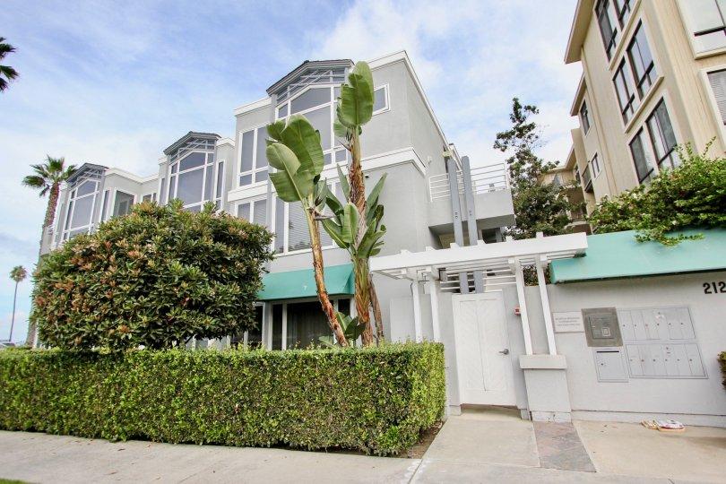 Three story residential units inside LJ Windigo in La Jolla CA
