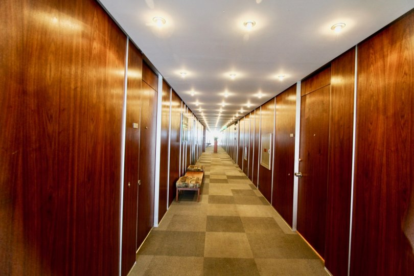 Park Prospect Hallway with Wood Paneling La Jolla California