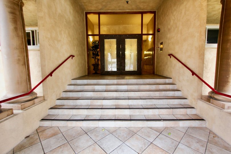 Beautiful entrance way in the Villaggio community in La Jolla, California.